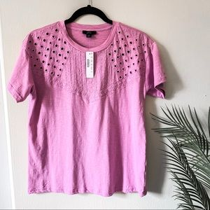 NWT J.Crew | Embroidered Eyelet Tee